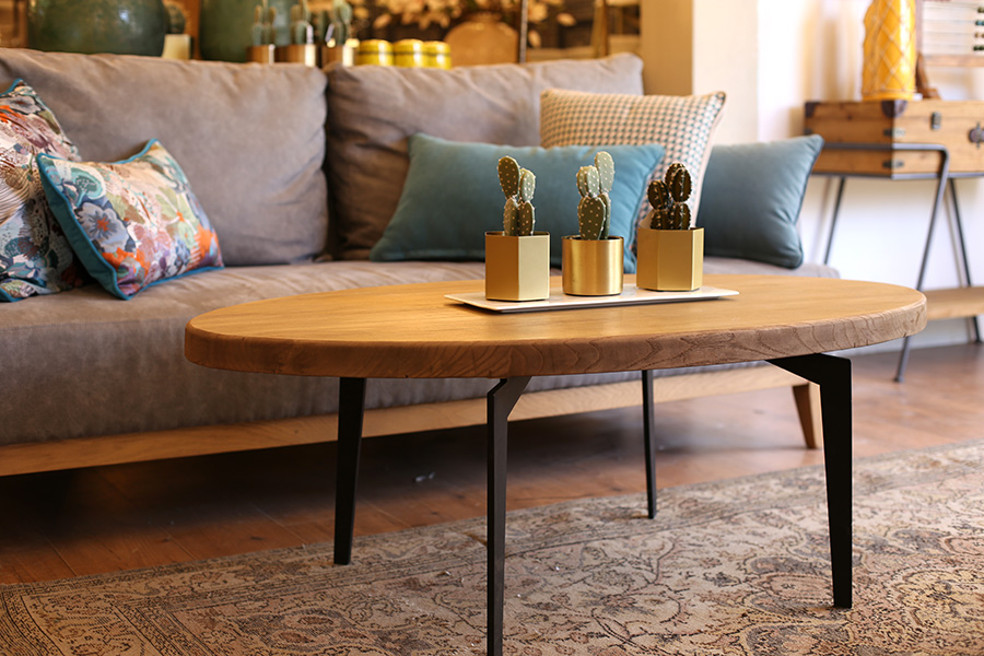 שולחן סלון אובלי