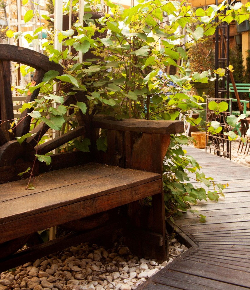ספסל עץ עבודת יד