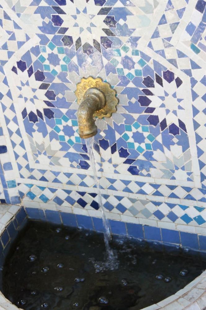 מזרקת פסיפס ממרוקו