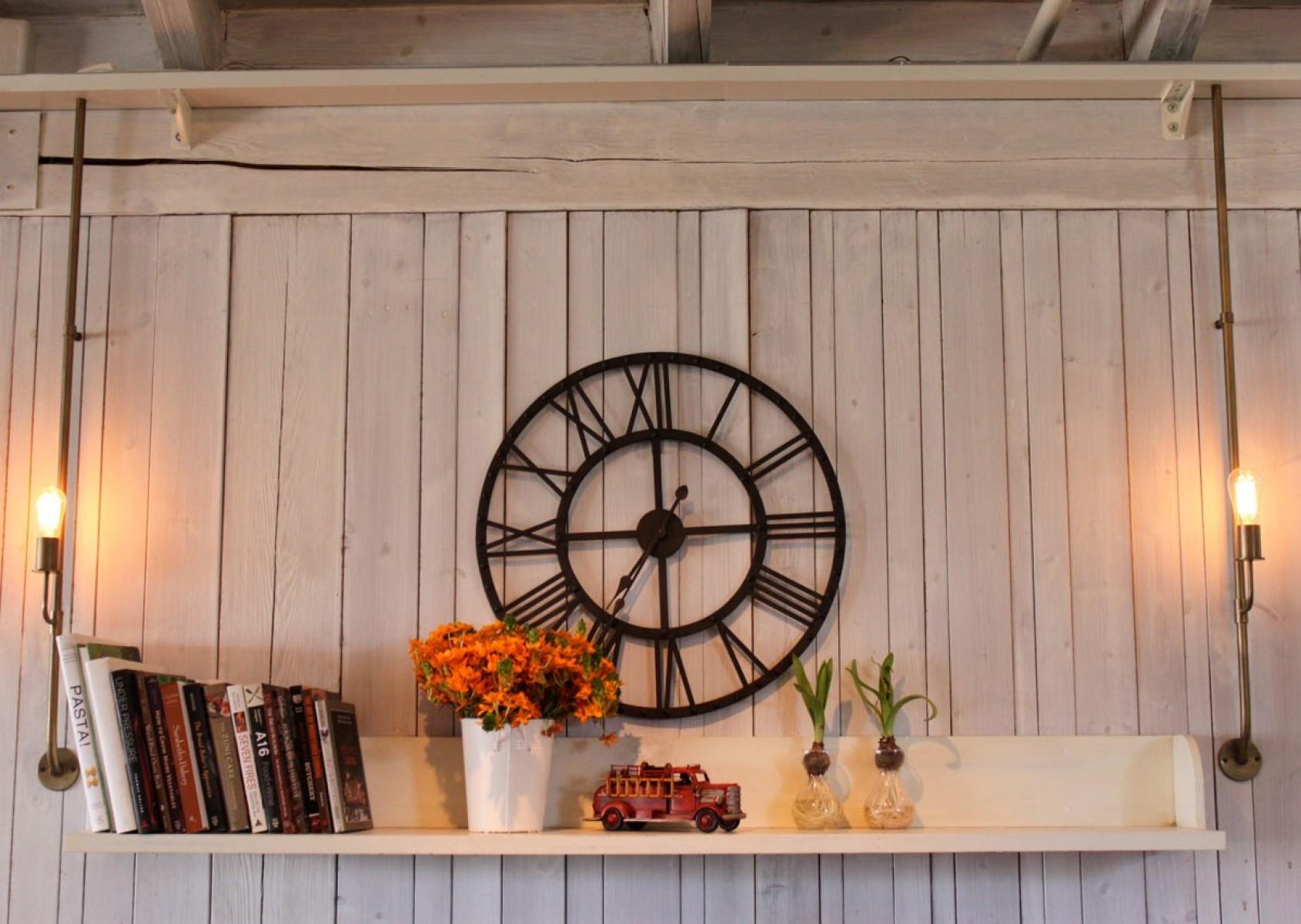 שעון קיר ענק מברזל