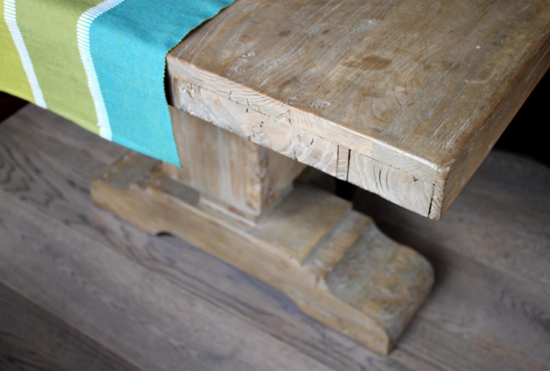 שולחן עץ אלון מלא