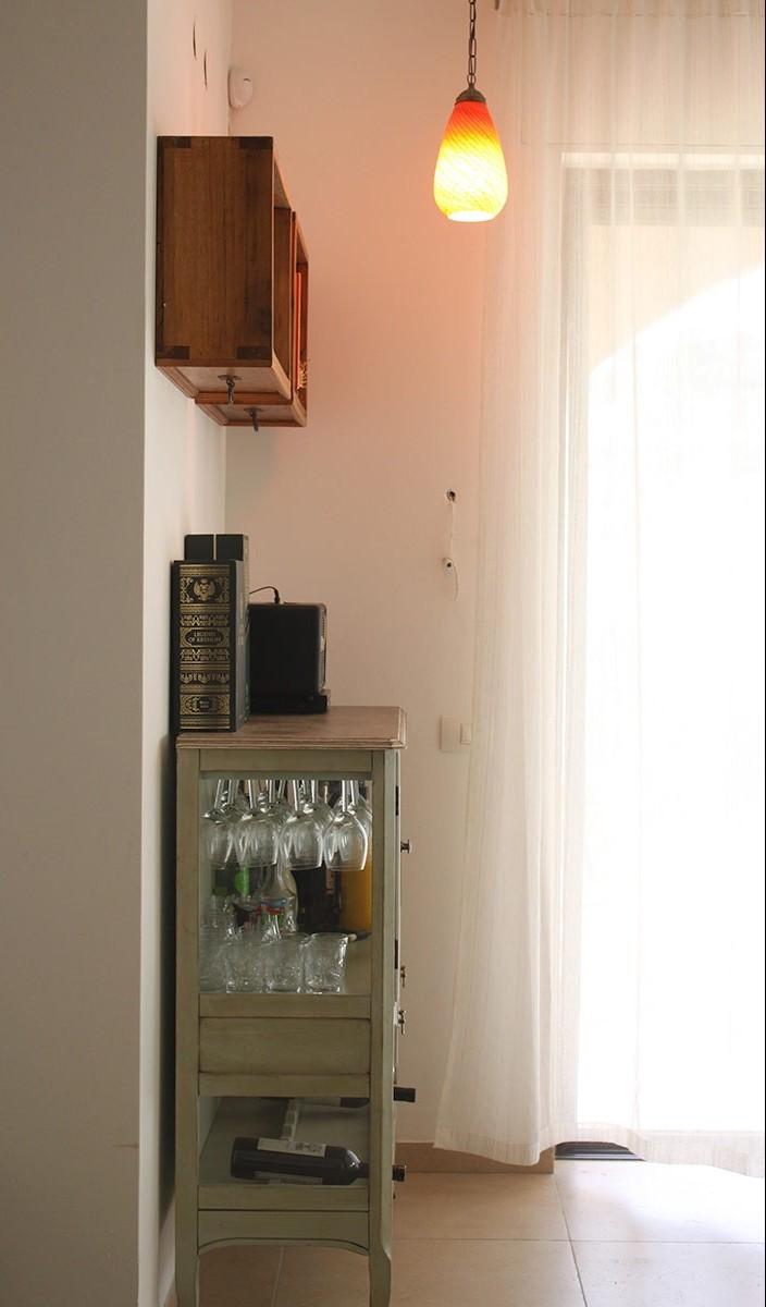 מנורה לסלון- זכוכית כתומה
