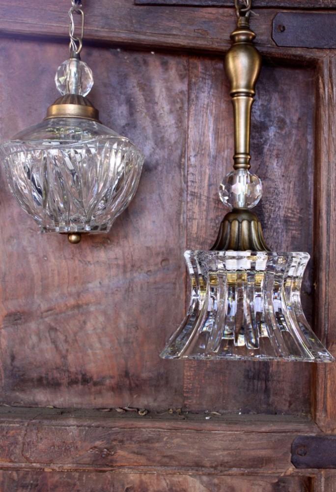 מנורות קריסטל תלויות
