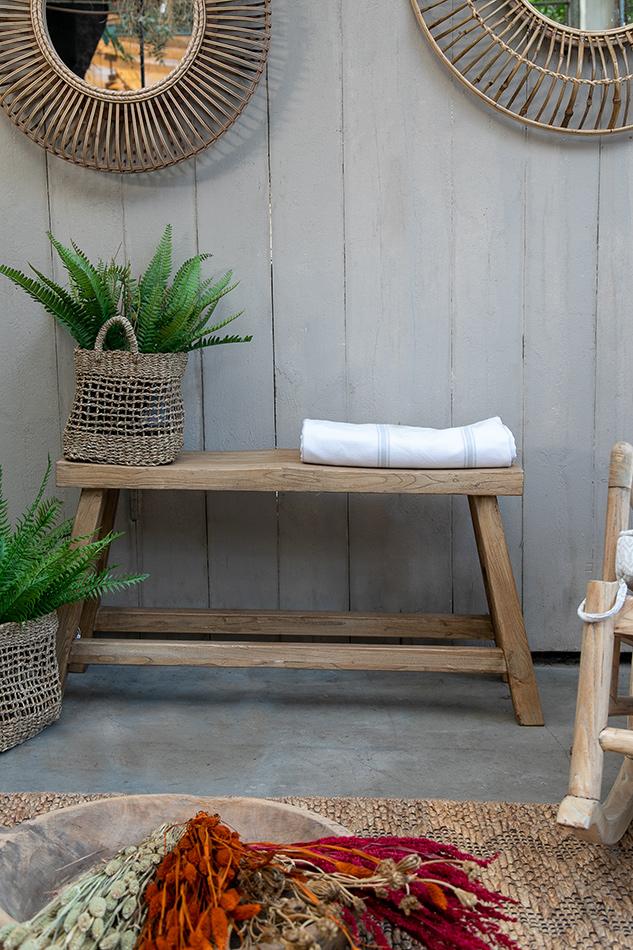 ספסל זוגי מעץ