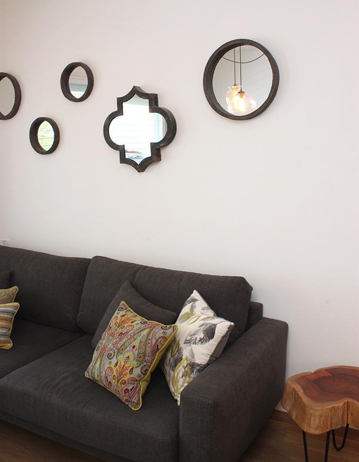 כריות צבעוניות לסלון