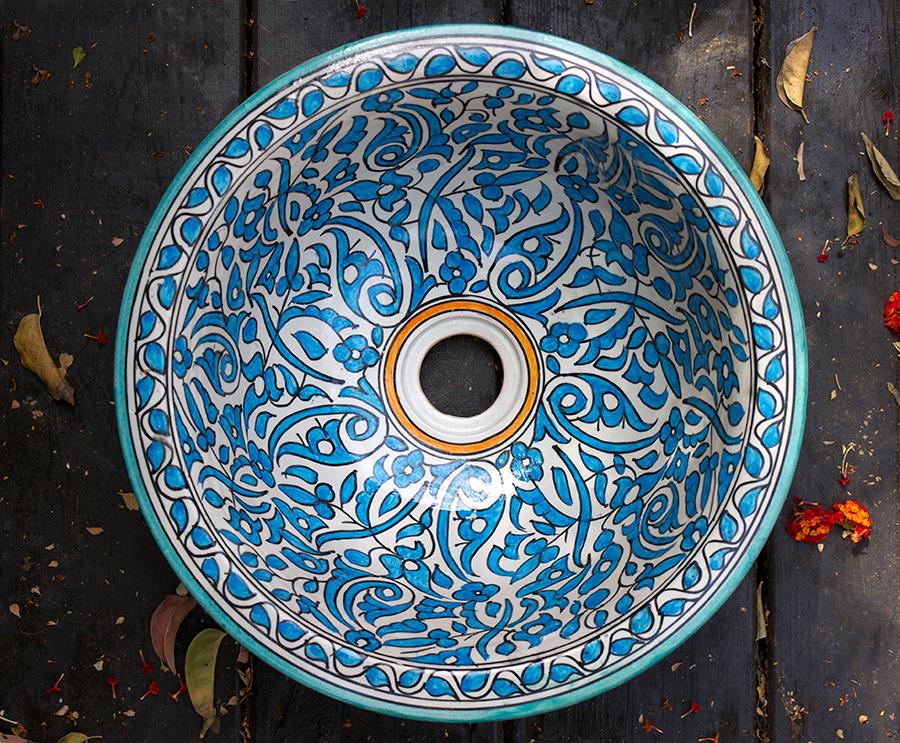 כיור מרוקאי מעוטר
