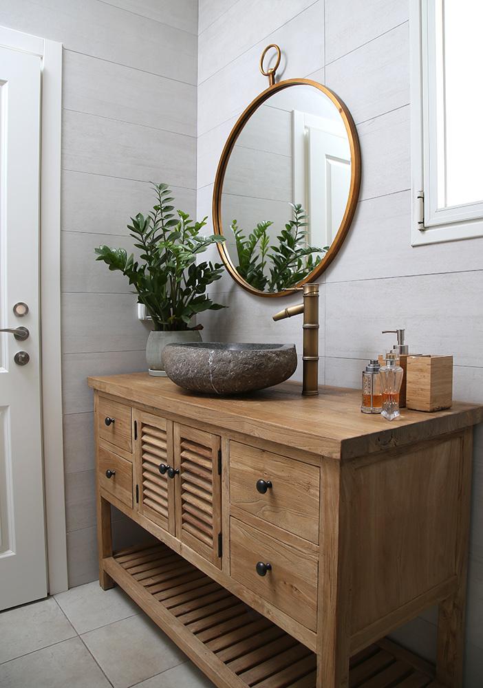 שידת אמבטיה טבעי