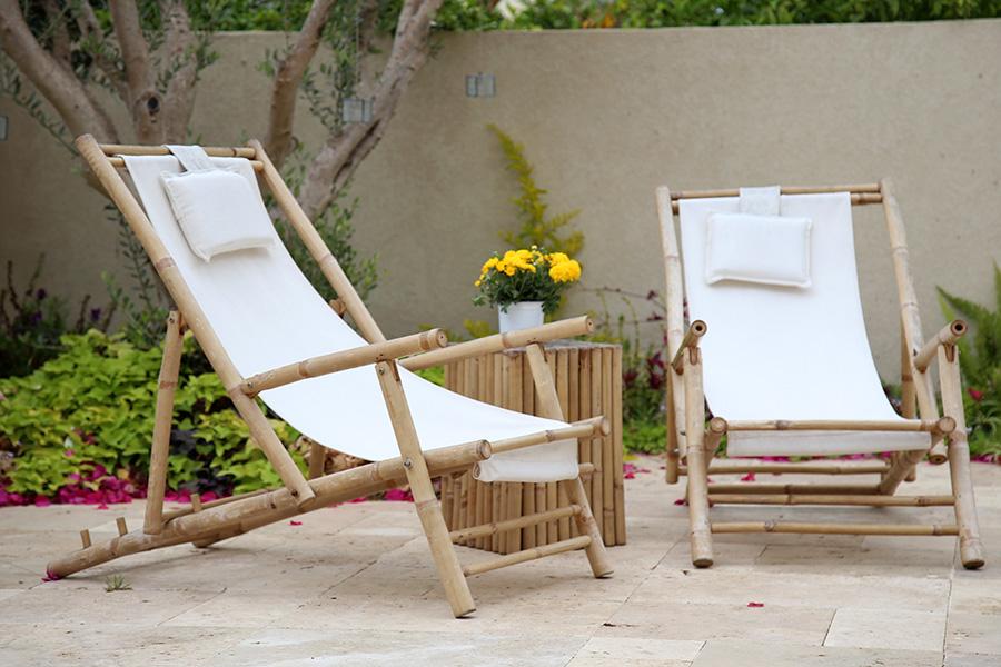 כסאות נוח מבמבוק לגינה
