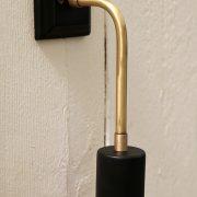 מנורת קיר בזהב ושחור