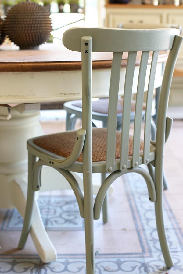 כסא פסים רטרו ירוק מנטה