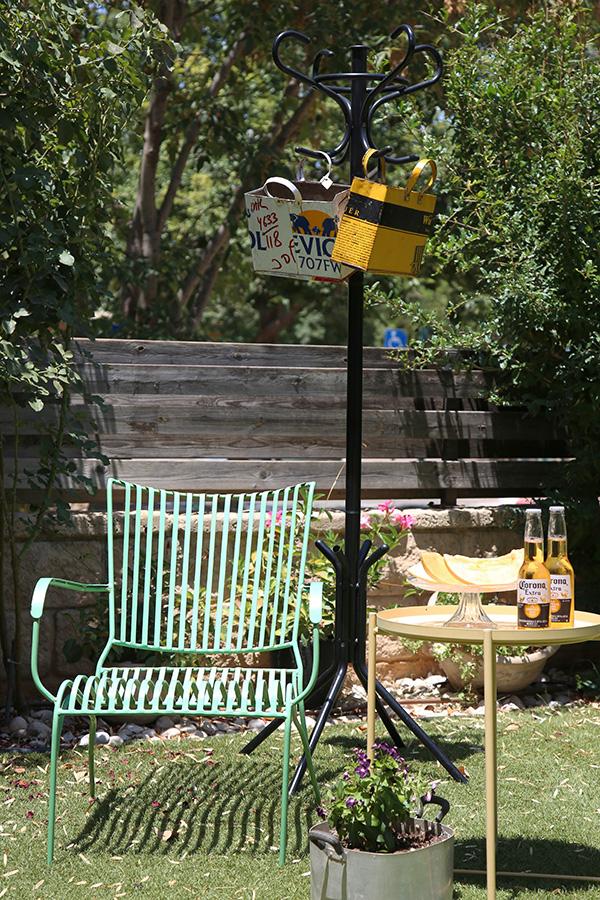 כסא נוח מברזל לגינה