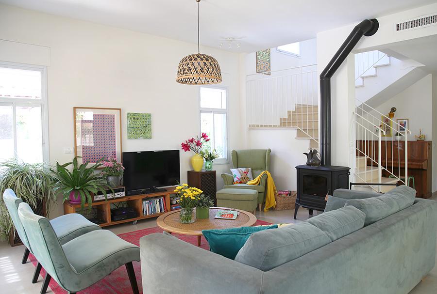 חדר מגורים בוהמי