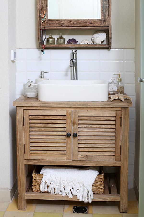 שידת אמבטיה, דלתות תריס טבעי