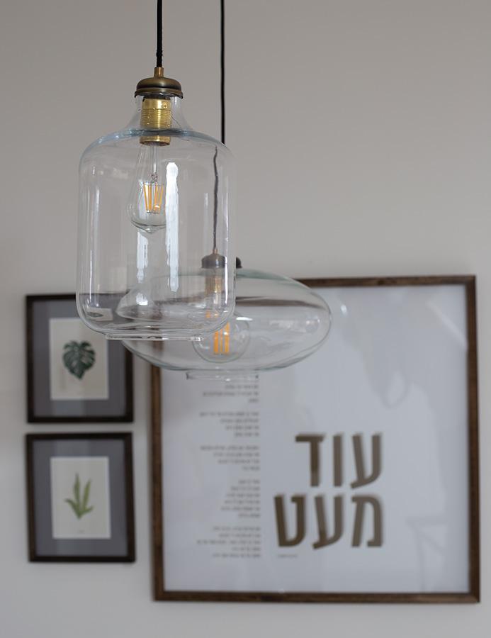 תאורת זכוכית תלויה