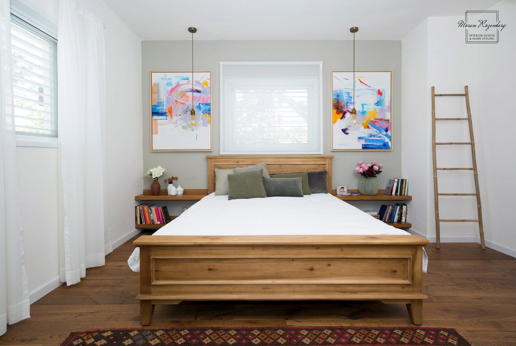חדר שינה כפרי צבעוני