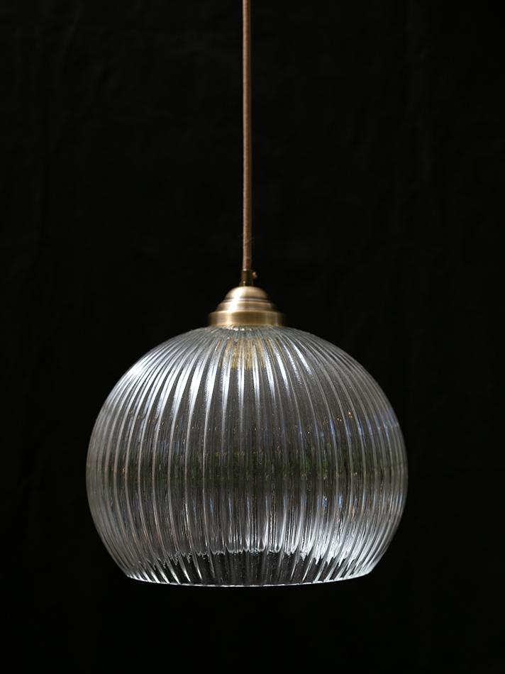 זכוכית 177A קוטר 25 עם סידור תליה פליז וכבל חום