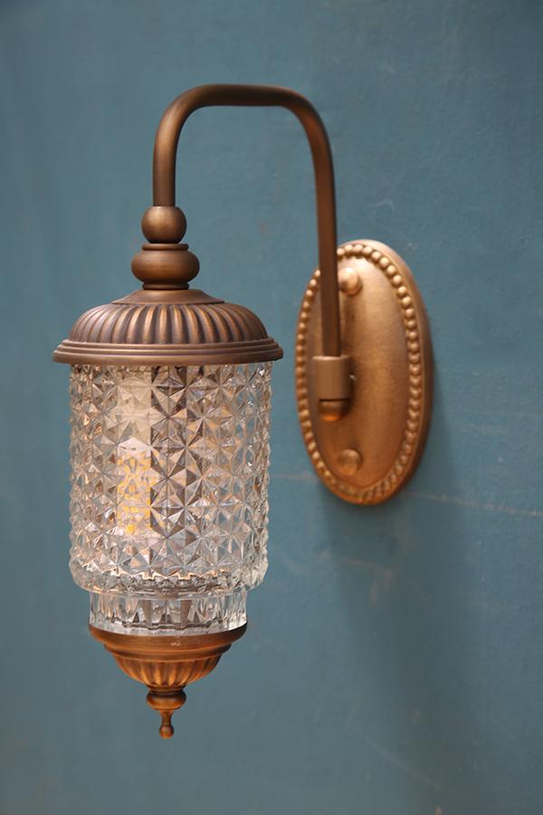 מנורת חוץ ורונה עם זכוכית E-14