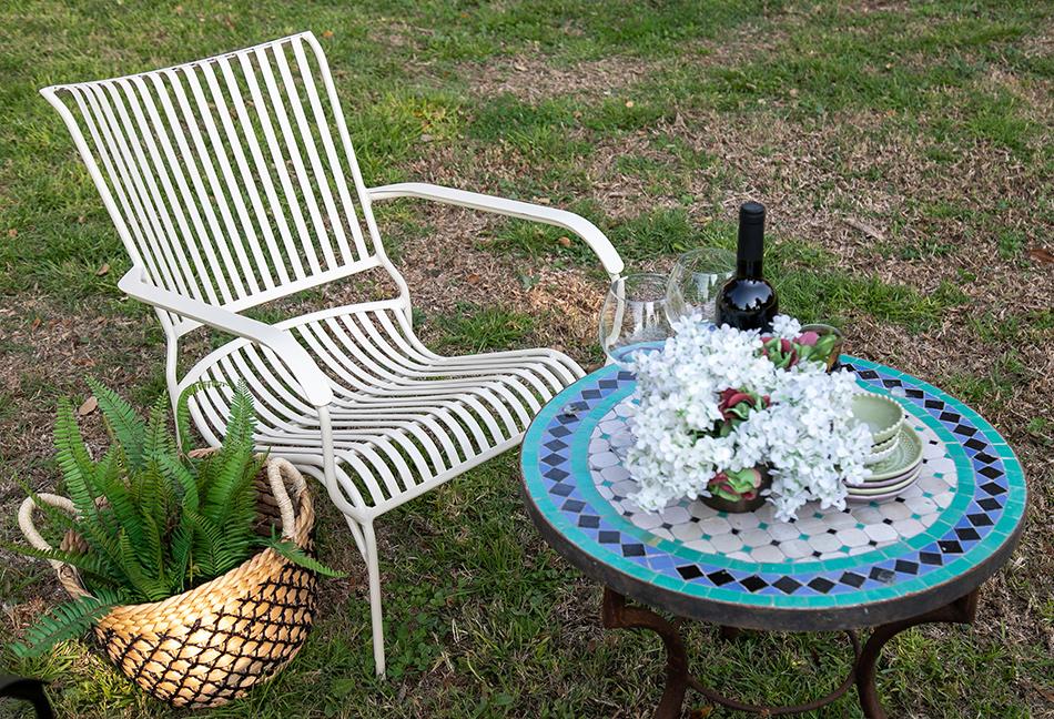כסא נוח אלומיניום לבן