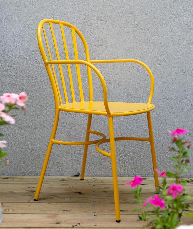 כסא חוץ מאלומיניום צבעוני