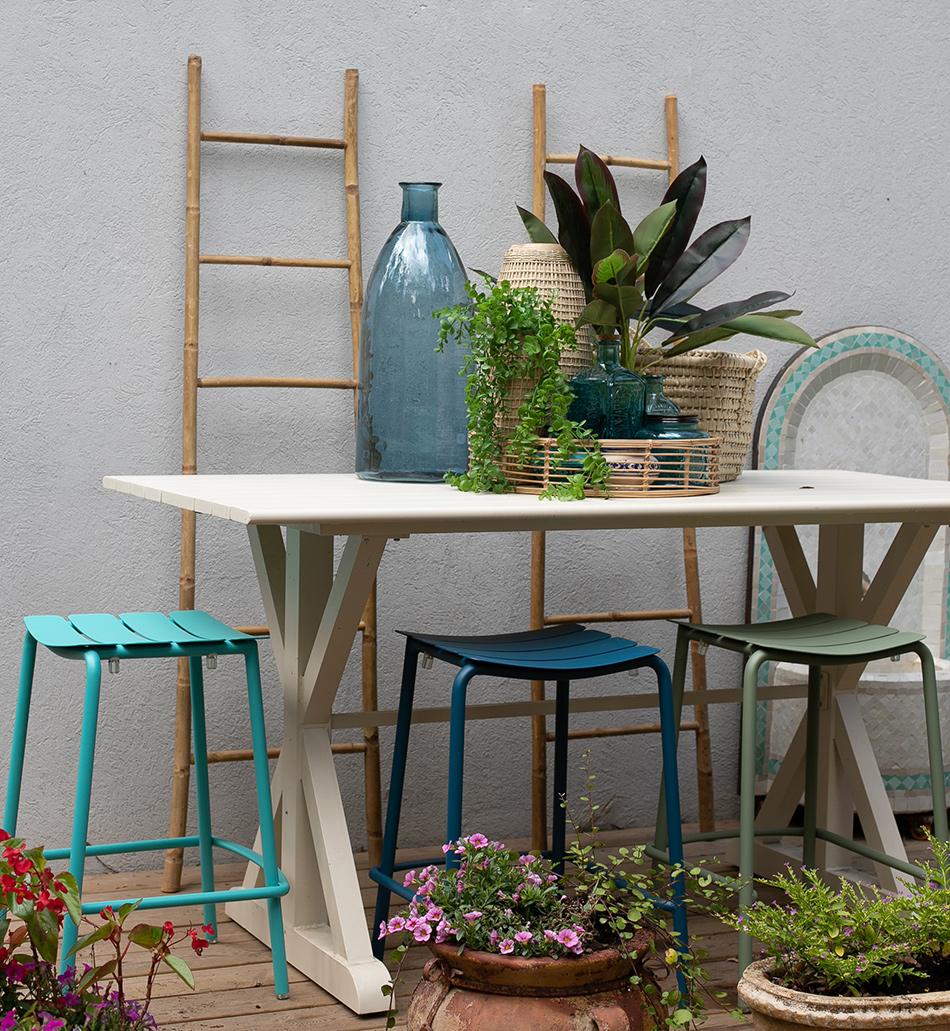 שולחן בר מלבני שמנת 2