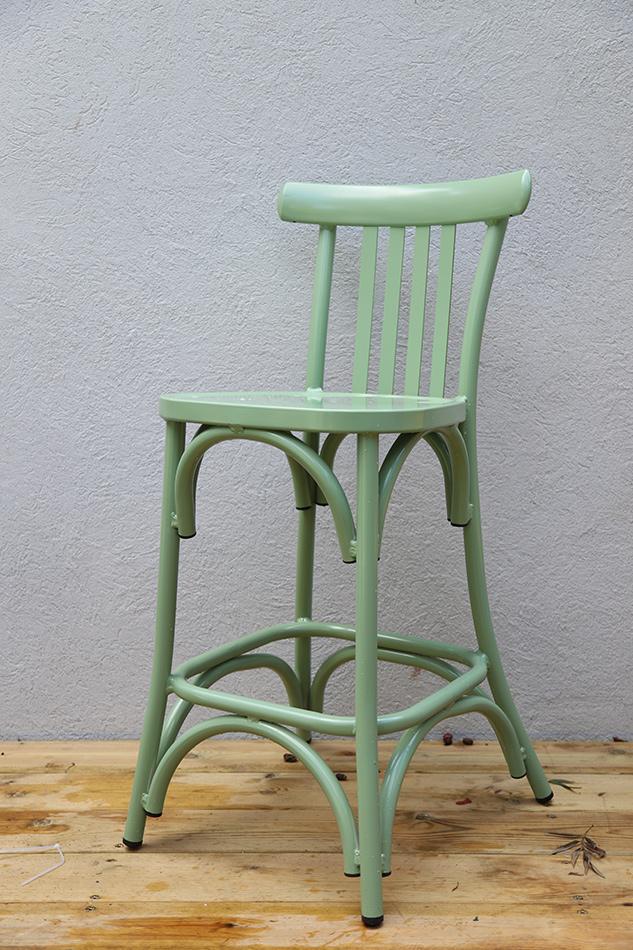 כסא בר אלומיניום לגינה
