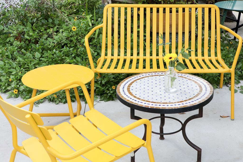 ספסל ריבר צהוב
