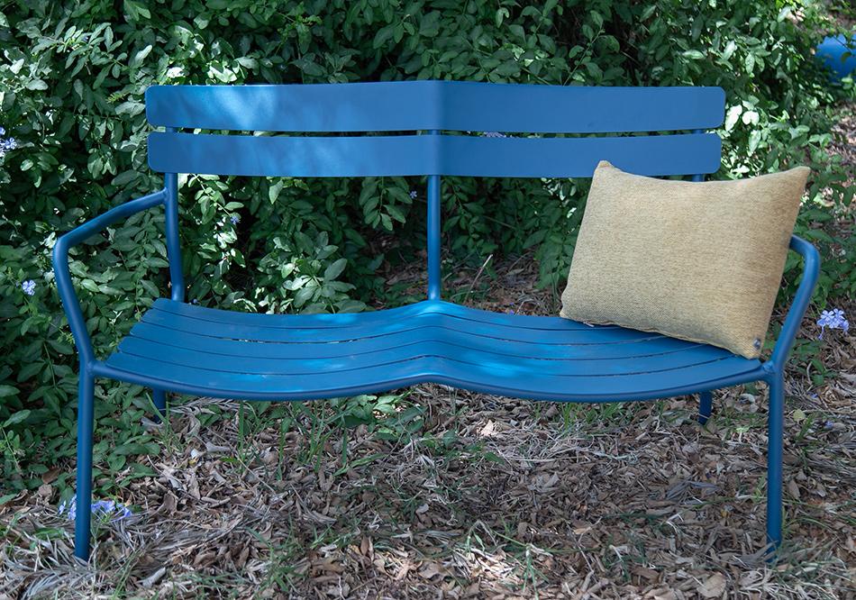 ספסל אלומיניום כחול
