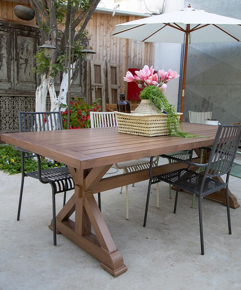 שולחן אלו רגל טבעי