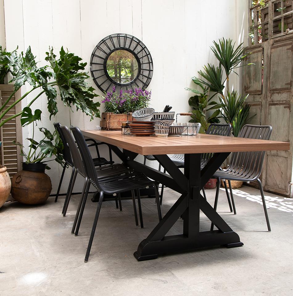 שולחן אלו רגל שחורה 3