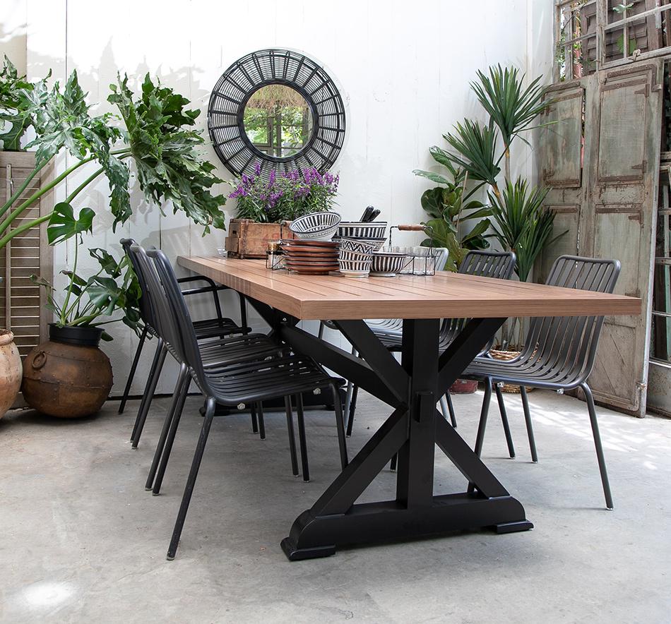 שולחן אלו רגל שחורה