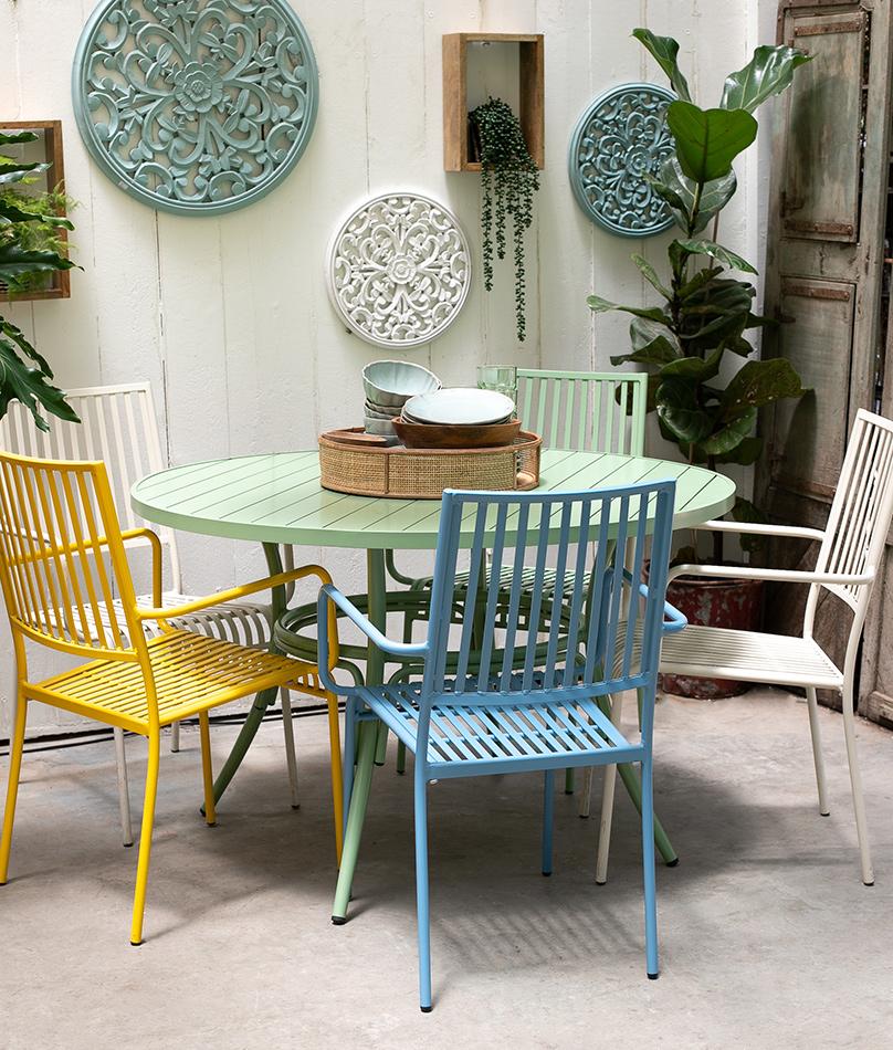 שולחן בר ירוק 3