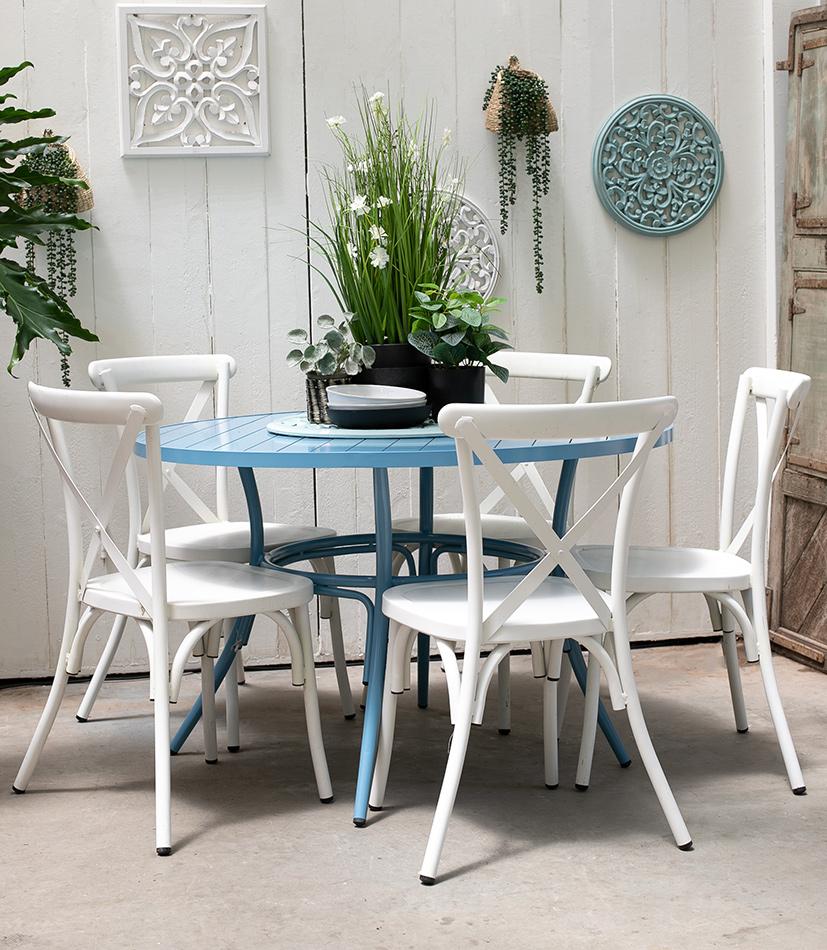 שולחן בר כחול 2