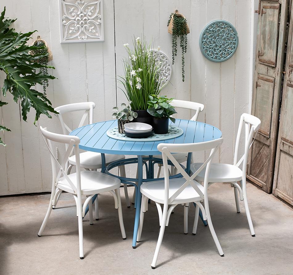 שולחן בר כחול 3
