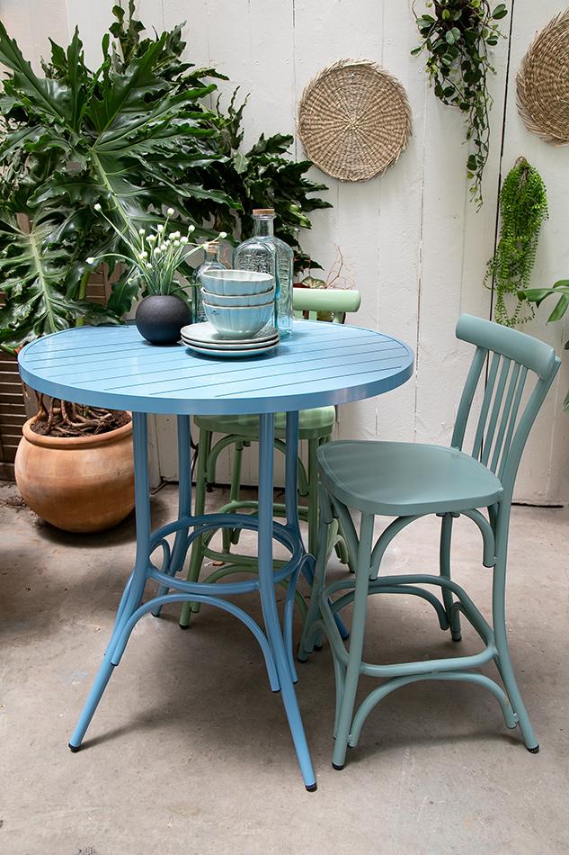 שולחן בר כחול 4